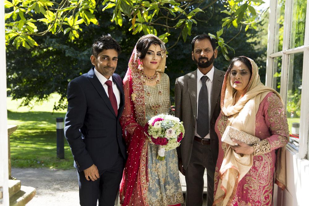 Sana and Khurram Welsh wedding civil ceremony Margam Country park Port Talbot