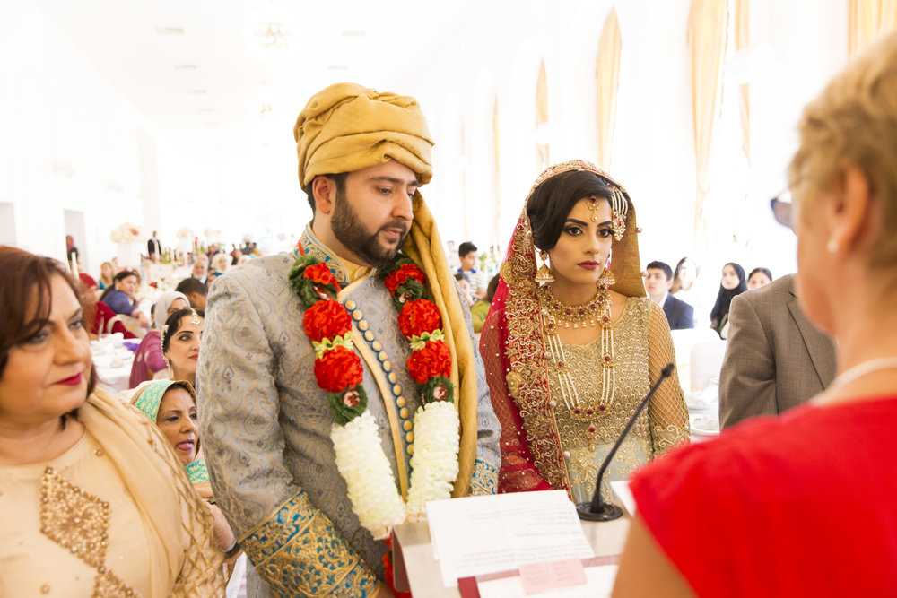 Sana and Khurram Welsh wedding civil ceremony Margam Country park Port Talbot civil ceremony