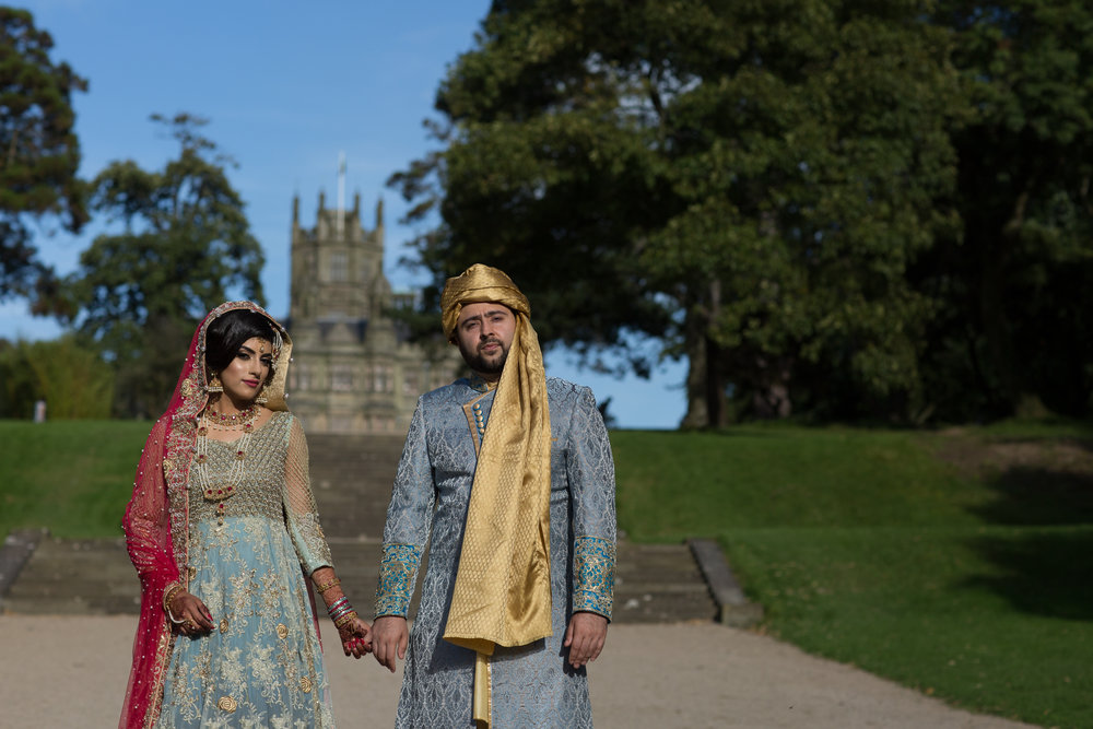 Sana and khurram couples portrait session Cardiff port talbot margam Country park civil ceremony