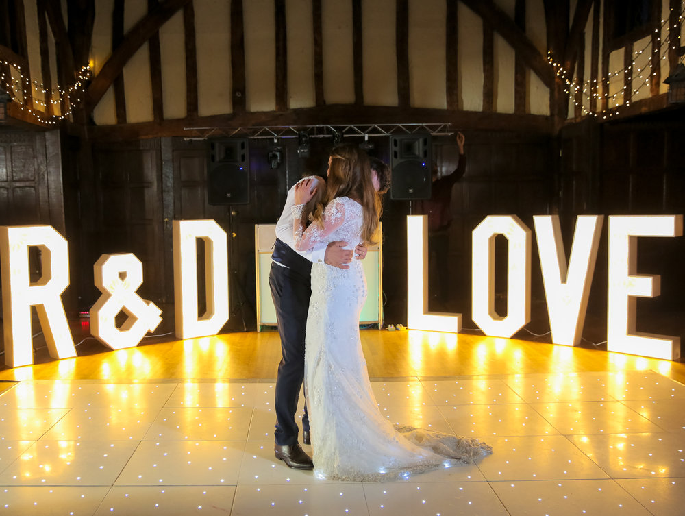 Rebecca and Dan get married at Great Fosters Egham luxury weddings first dance