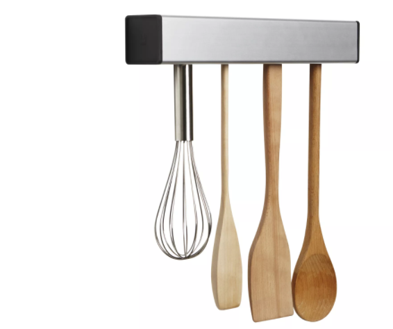 Float under cabinet utensil holder, produced by Umbra and designed by Brandon Williams.