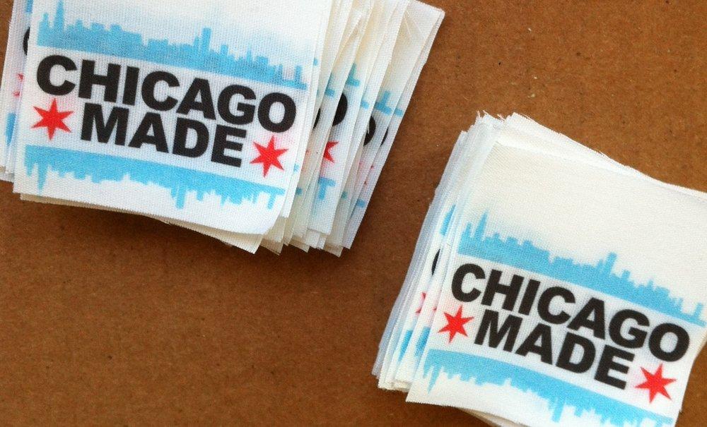 Chicago Made™ labels were sewn into Urbanite bags.