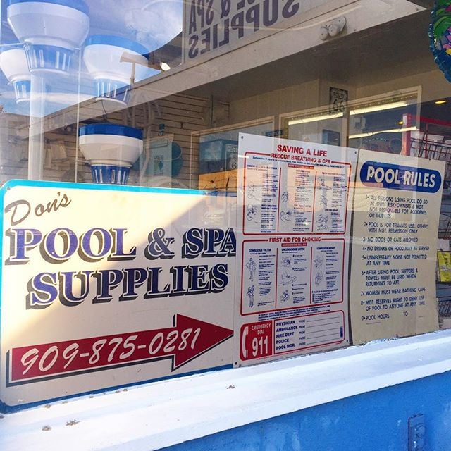 "Servicing both residential and commercial pools and spas here in the Inland Empire! ""With us, we keep your pool running, swimmingly🏊🏼!"" #route66pools #pool #swim #poolguys"