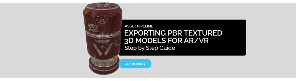 Exporting PBR Textured 3D Models for AR/VR