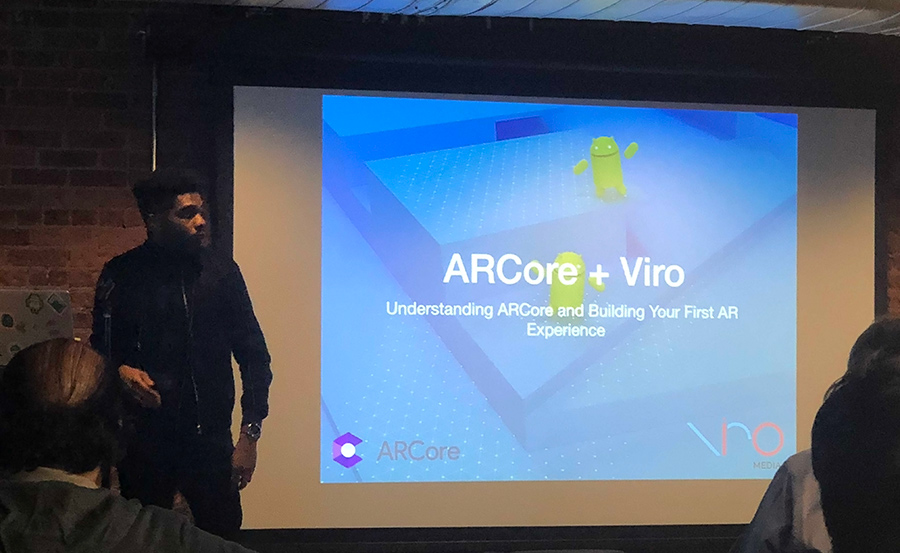 Josh Williams of Food Network gave a talk @NYC Kotlin Meetup about how ViroCore makes it easy for ARCore app development
