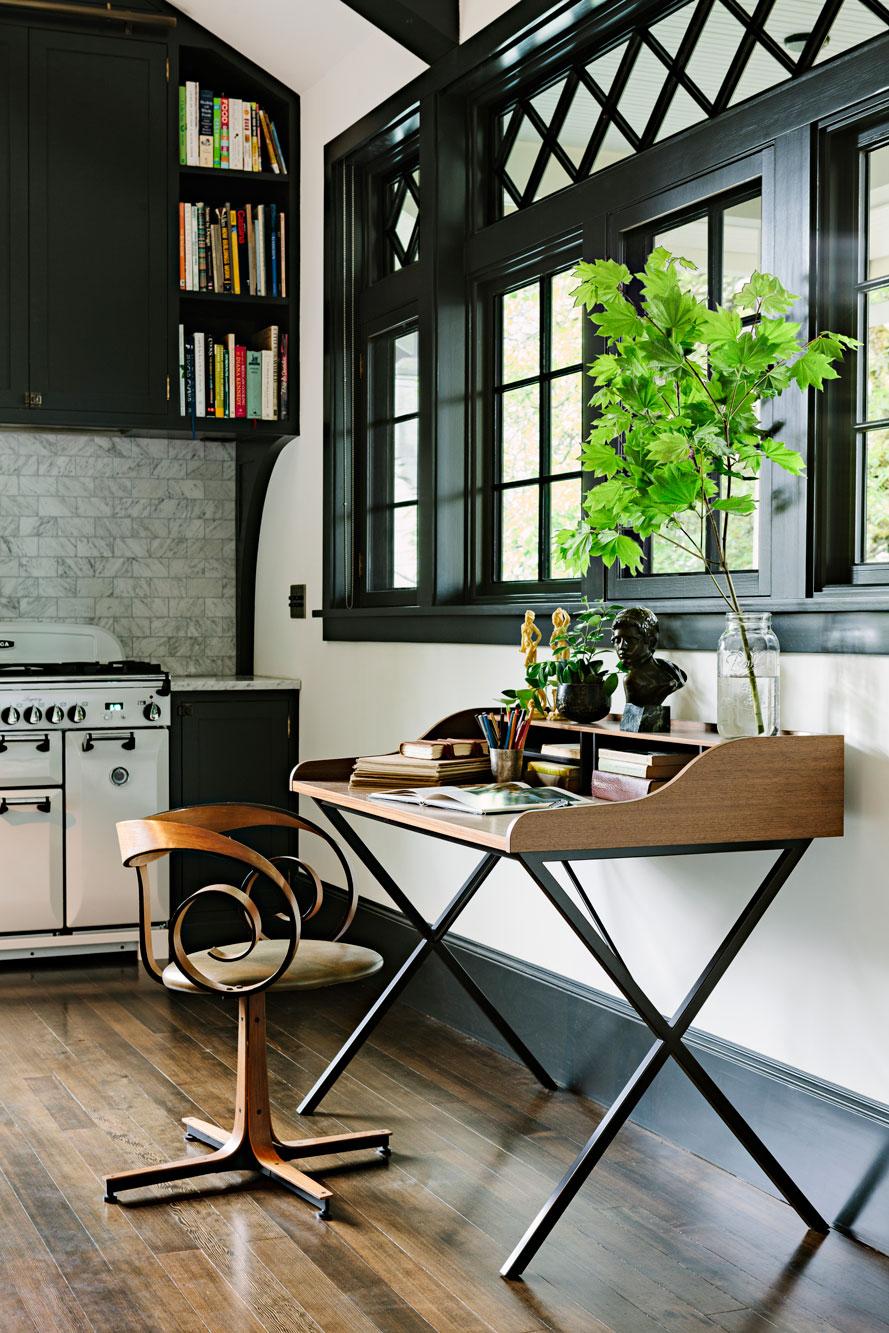 Desk at kitchen