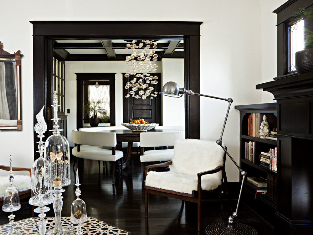 Living room with a view of the dining room