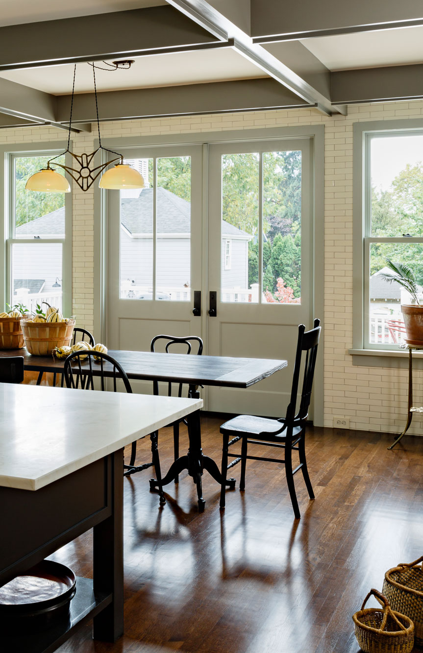 French doors to back porch