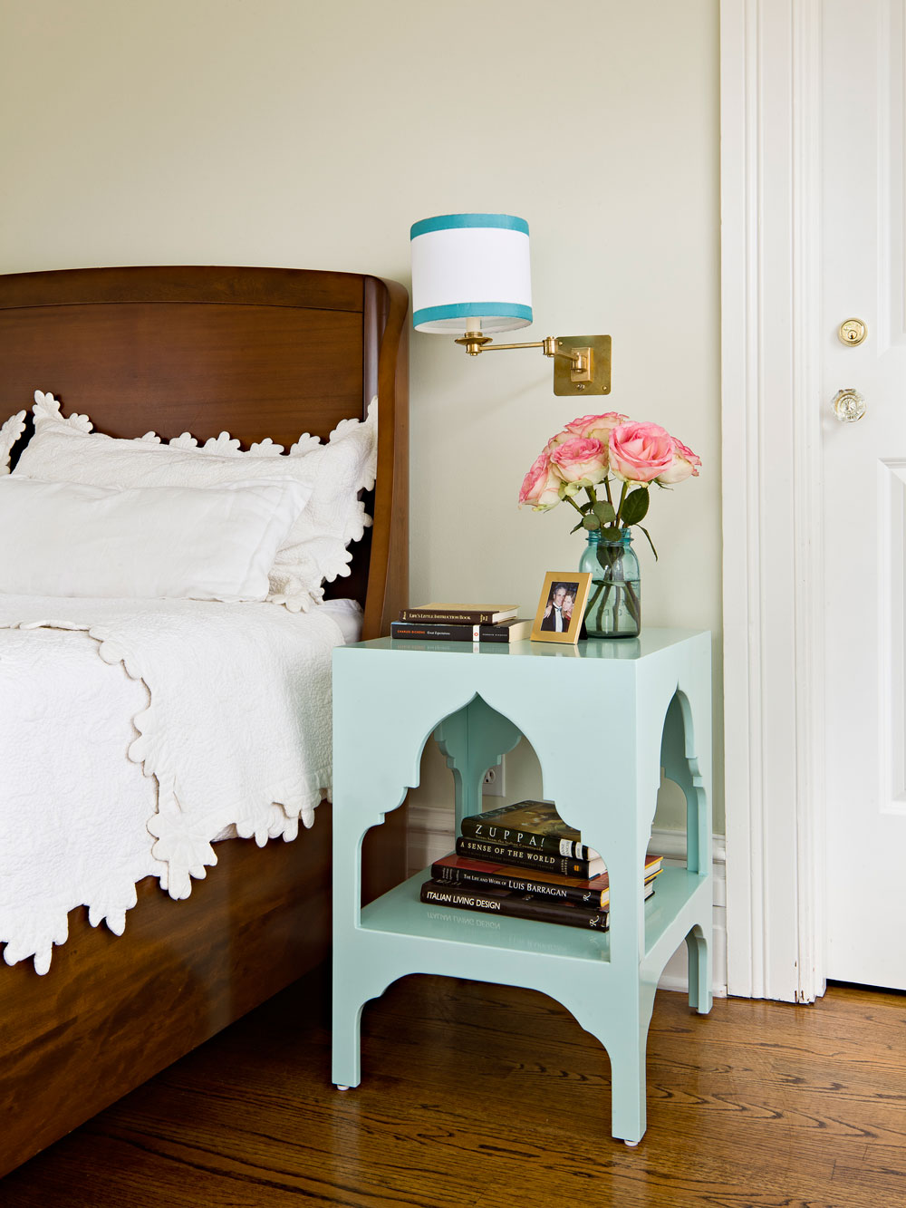 Master bedroom with JHID-designed side tables