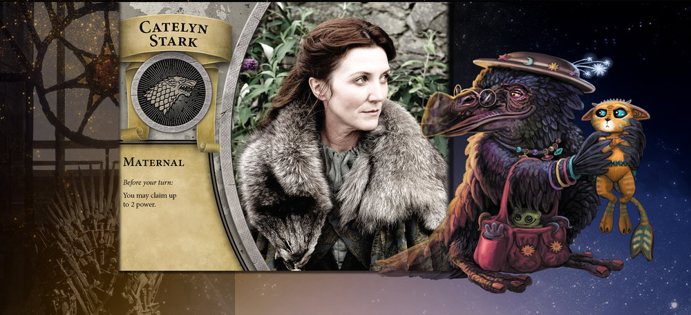 Catelyn and the Nanny are ever mindful of offering protection... appreciated or not.