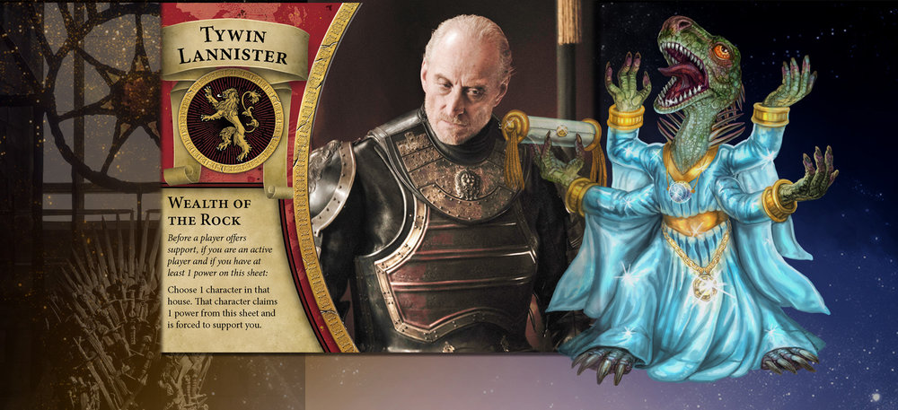 Serving as Hand of the King elevates Tywin to the inner circle with Emperor. They are as two peas in the royal pod.