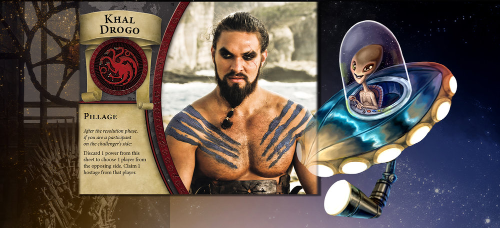 "Khal Drogo and Alien agree that a captive in the hand is worth two in the ""where ever."""