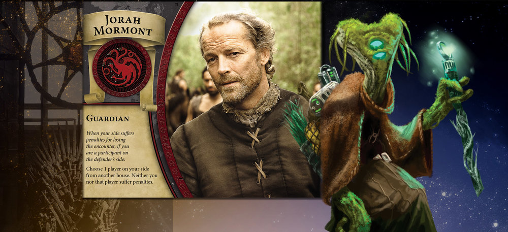 Jorah Mormont and Healer move softly through the fray making friends and consloing the bereft.