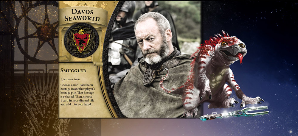 Davos Seaworth and Fido are well versed in ingratiating themsleves to potential allies.