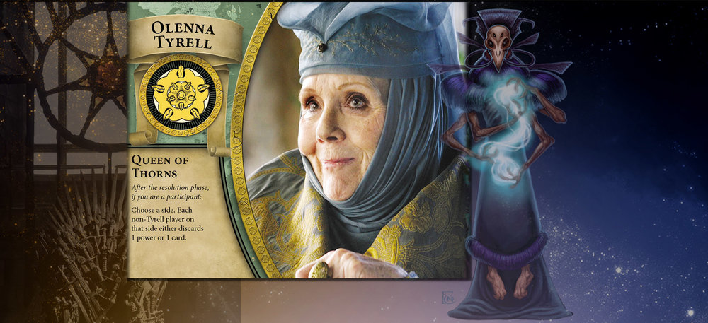 Olenna and Sorcerer get into opponents' heads by reading their 'tells', then telling them what they will do about it.