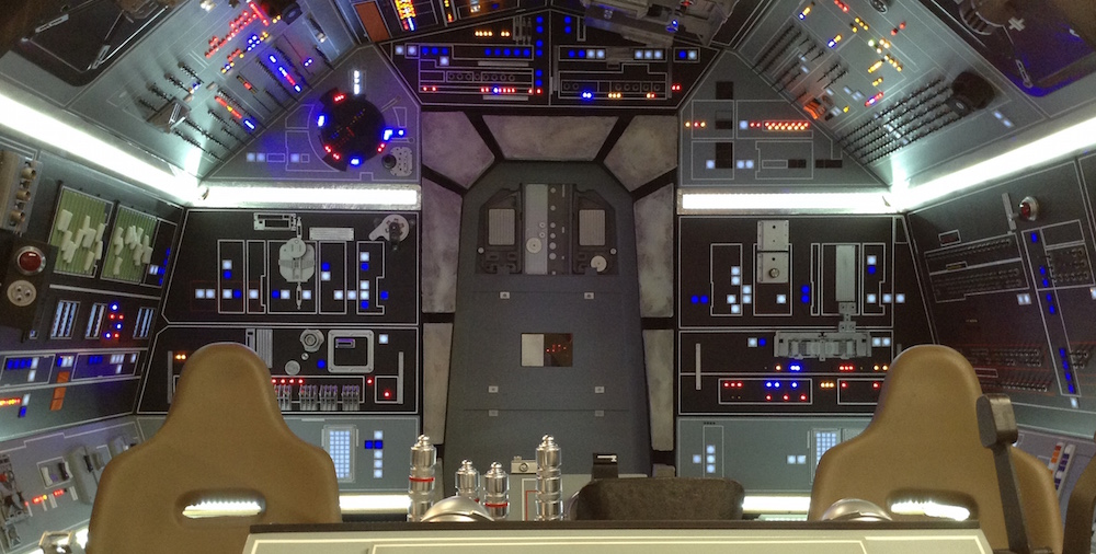 Image Credit: Lifestyle on Reddit  The Cosmic Encounter location at Escape Velocity will be near Fantasy Flight Games and a full-scale replica of the  Millennium Falcon's  cockpit built by a team of Star Wars fans from Huntsville, Alabama.