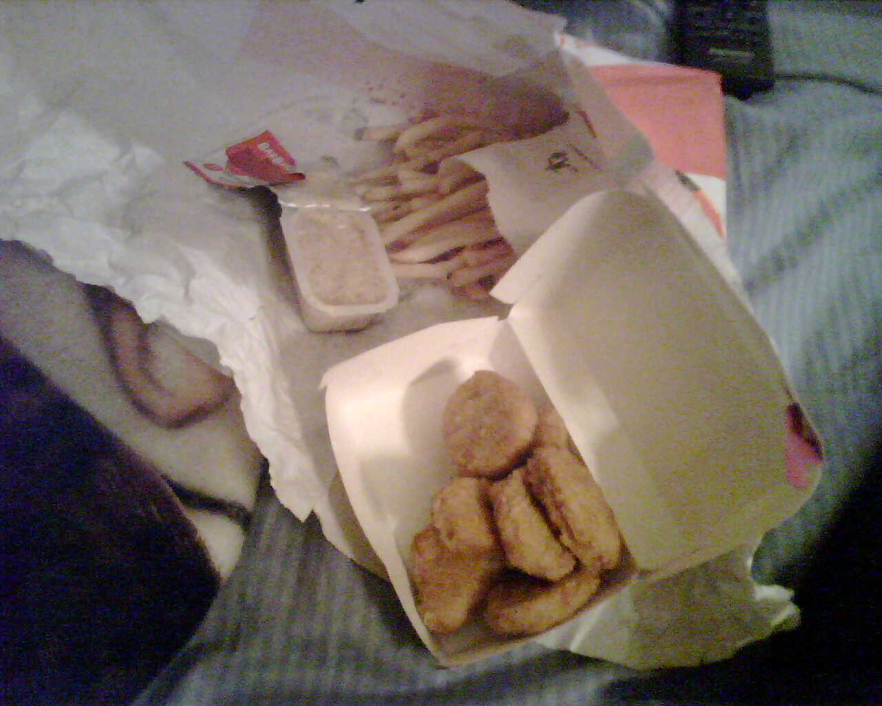 and finally some mcnuggets to round it off. i had so much fun ruth!