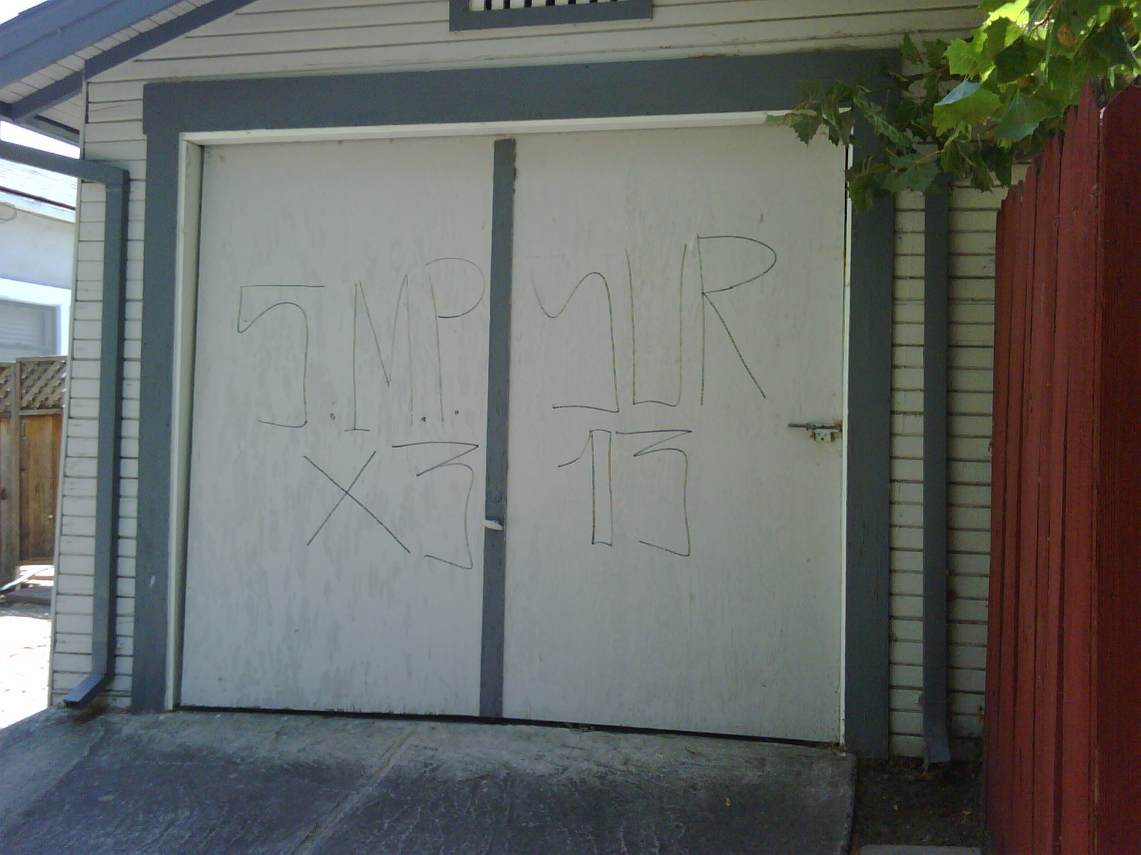 tagging on my garage. great.