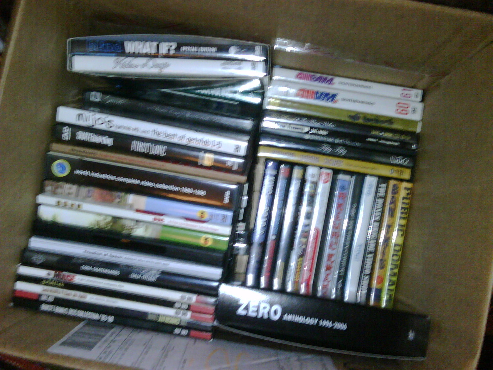 and this is a box of his skate videos. still trying to finish that zero anthology...