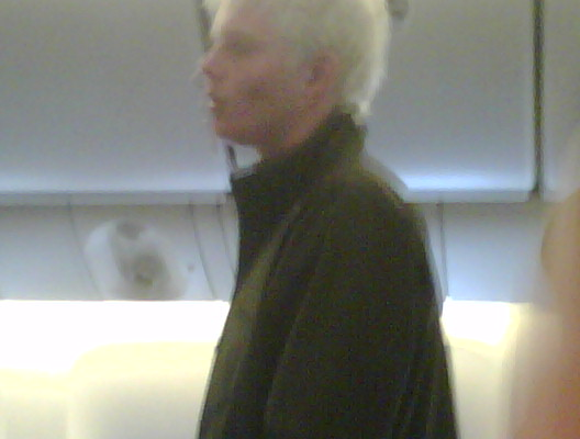 the bad guy from the da vinci code was on our plane
