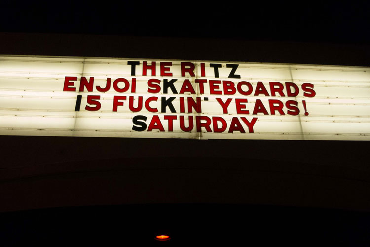 enjoi 15 years party at the ritz fuck yeah