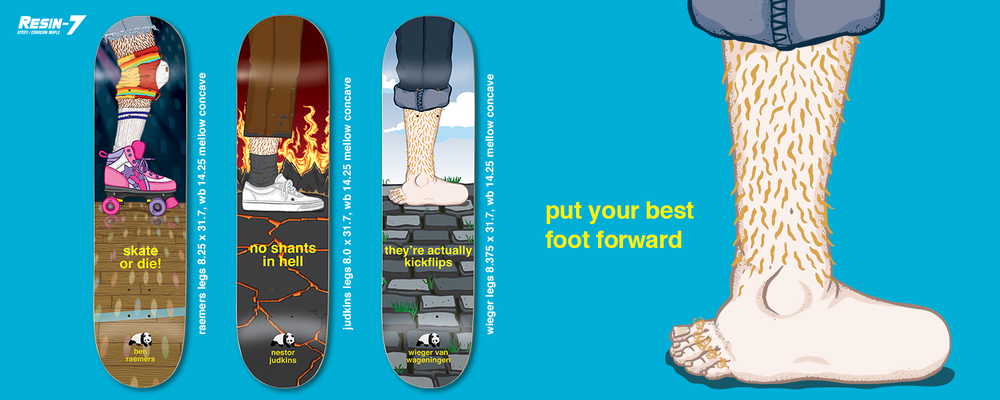 Enjoi Skateboards Peep Show Legs Series