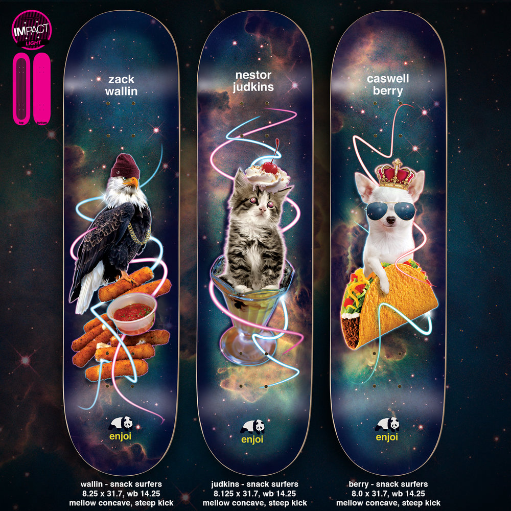 Enjoi Skateboards Peepshow Snack Surfers