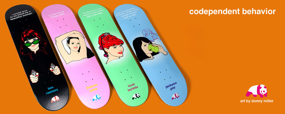 enjoi codependent behavior skateboard decks donny miller ben raemers thaynan louie barletta jackson pilz