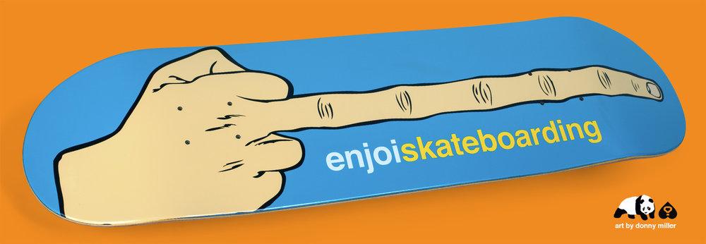 enjoi_THE_BIRD_long_middle_finger_DONNY_MILLER_art_skateboard_DECK.jpg