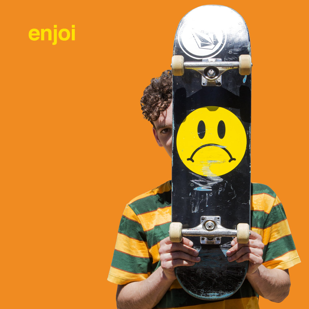 Ben Raemers_Sad_Face_enjoi_Logo_Board_stripe_tee