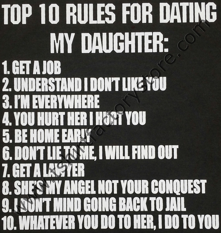 10 rules dating daughter