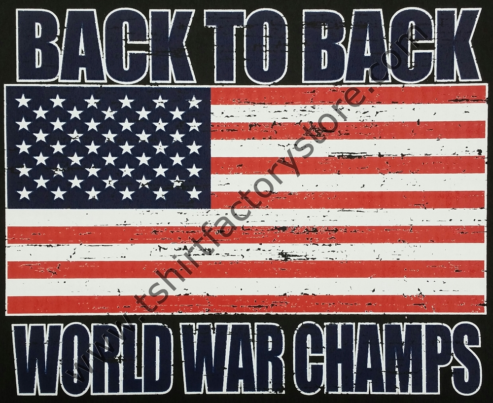 4d66c10773f Back To Back World War Champs (US Flag) — T-Shirt Factory  Shop Printed  T-Shirts
