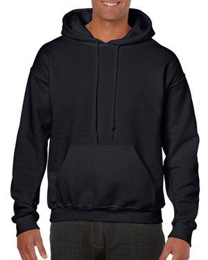 bee716fb974 Black Custom Printed Adult Hooded Sweatshirt Gildan 18500 Front T-Shirt  Factory Store