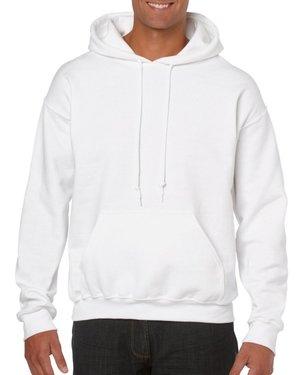 1da78aaa33a White Custom Printed Adult Hooded Sweatshirt Gildan 18500 Front T-Shirt  Factory Store