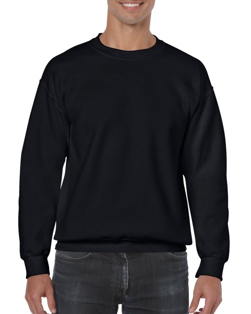 ff8d4472d Black Custom Printed Adult Crewneck Sweatshirt Gildan 18000 Front T-Shirt  Factory Store