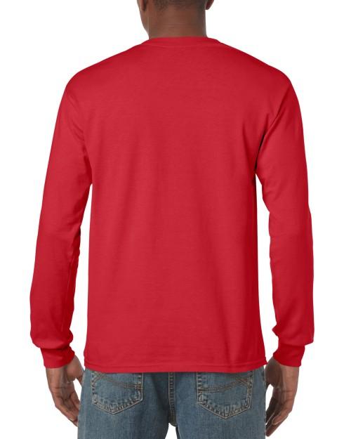 c26e8869aaa Red Custom Printed Adult Long Sleeve T-Shirt Gildan 5400 Back T-Shirt  Factory