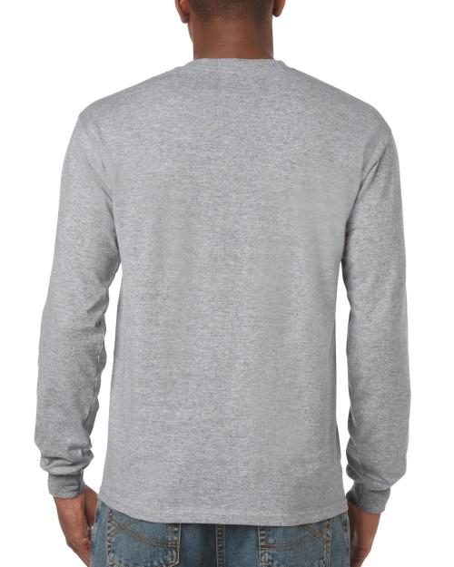 8a45af232ae Sport Grey Custom Printed Adult Long Sleeve T-Shirt Gildan 5400 Back T-Shirt