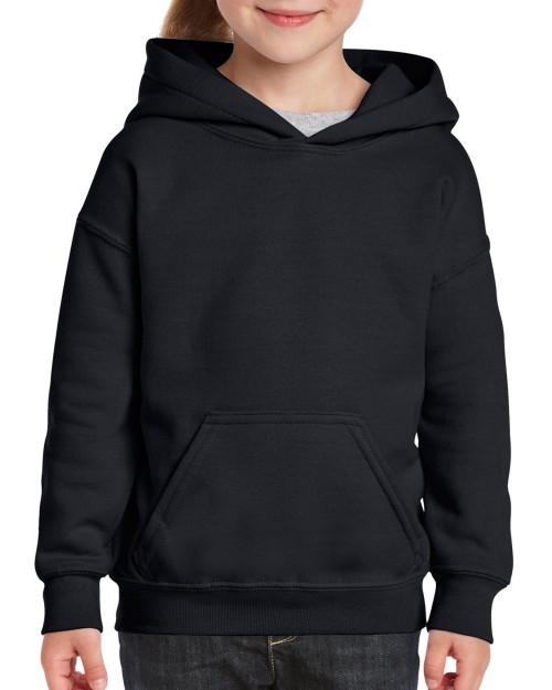 ed88d4bc0 Black Custom Printed Youth Hooded Sweatshirt Gildan 18500B Front T-Shirt  Factory Store