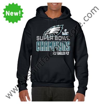 d8b6eb40e 2018 Fly Eagles Fly Super Bowl Champions Custom Printed Adult Hooded  Sweatshirt