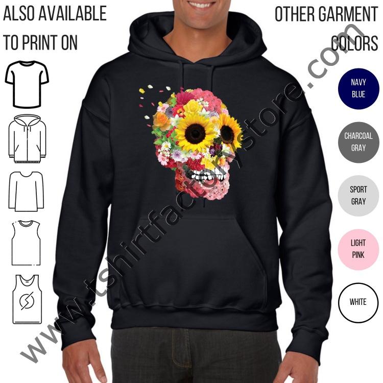 eda6e418b5082d Floral Sugar Skull — T-Shirt Factory  Shop Printed T-Shirts ...
