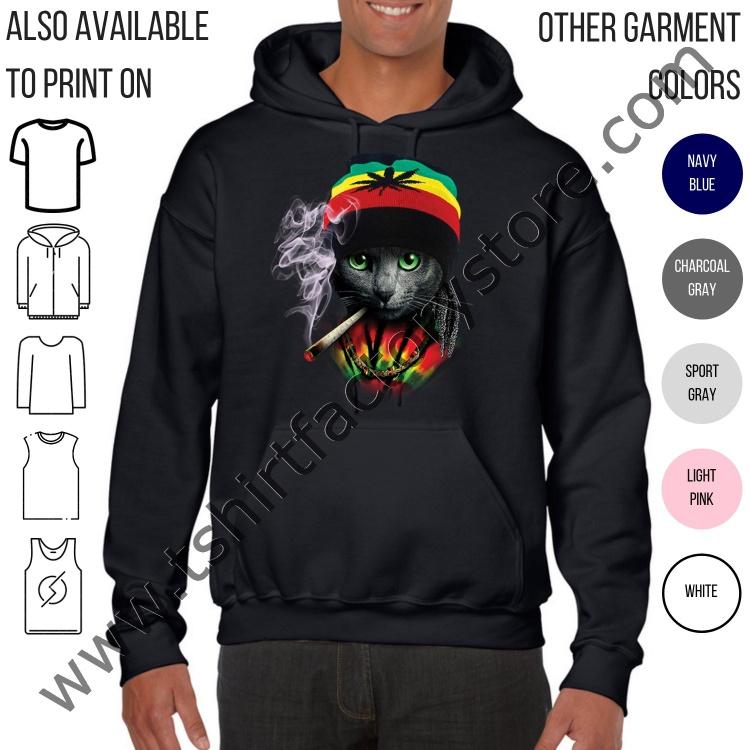 Rasta Cat Smoking Weed Jamaican Beanie — T-Shirt Factory  Shop ... 901ba0bc6ce
