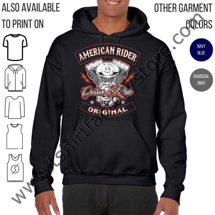 0bff48099 American Rider Original Custom Made Biker — T-Shirt Factory: Shop Printed T- Shirts, Sweatshirts and Hoodies
