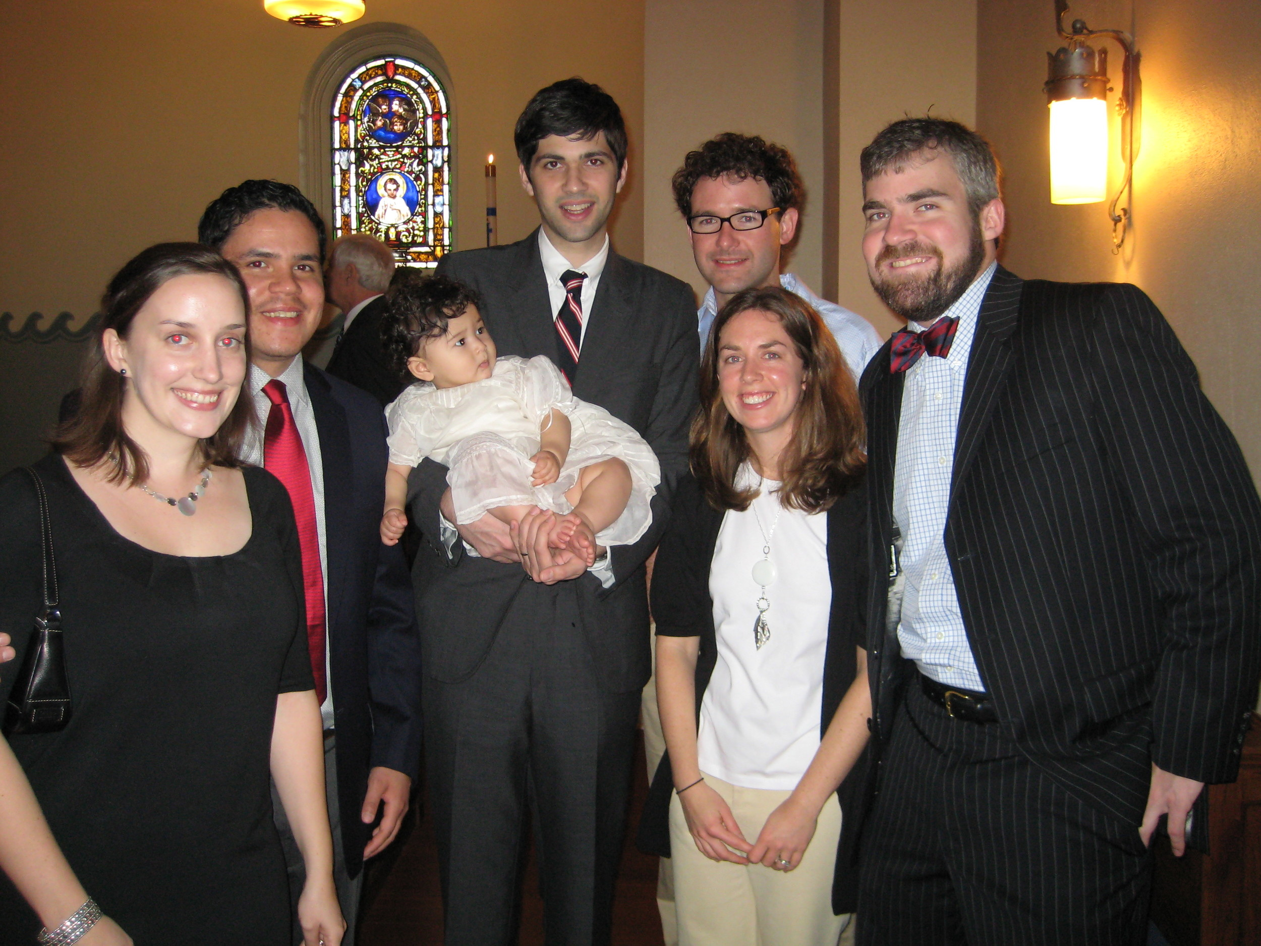 high school clan at rowe's christening