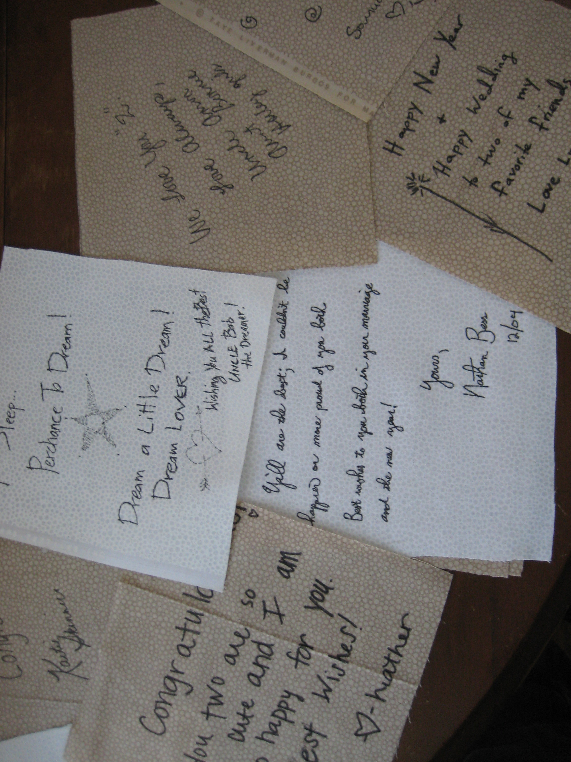wedding signature squares