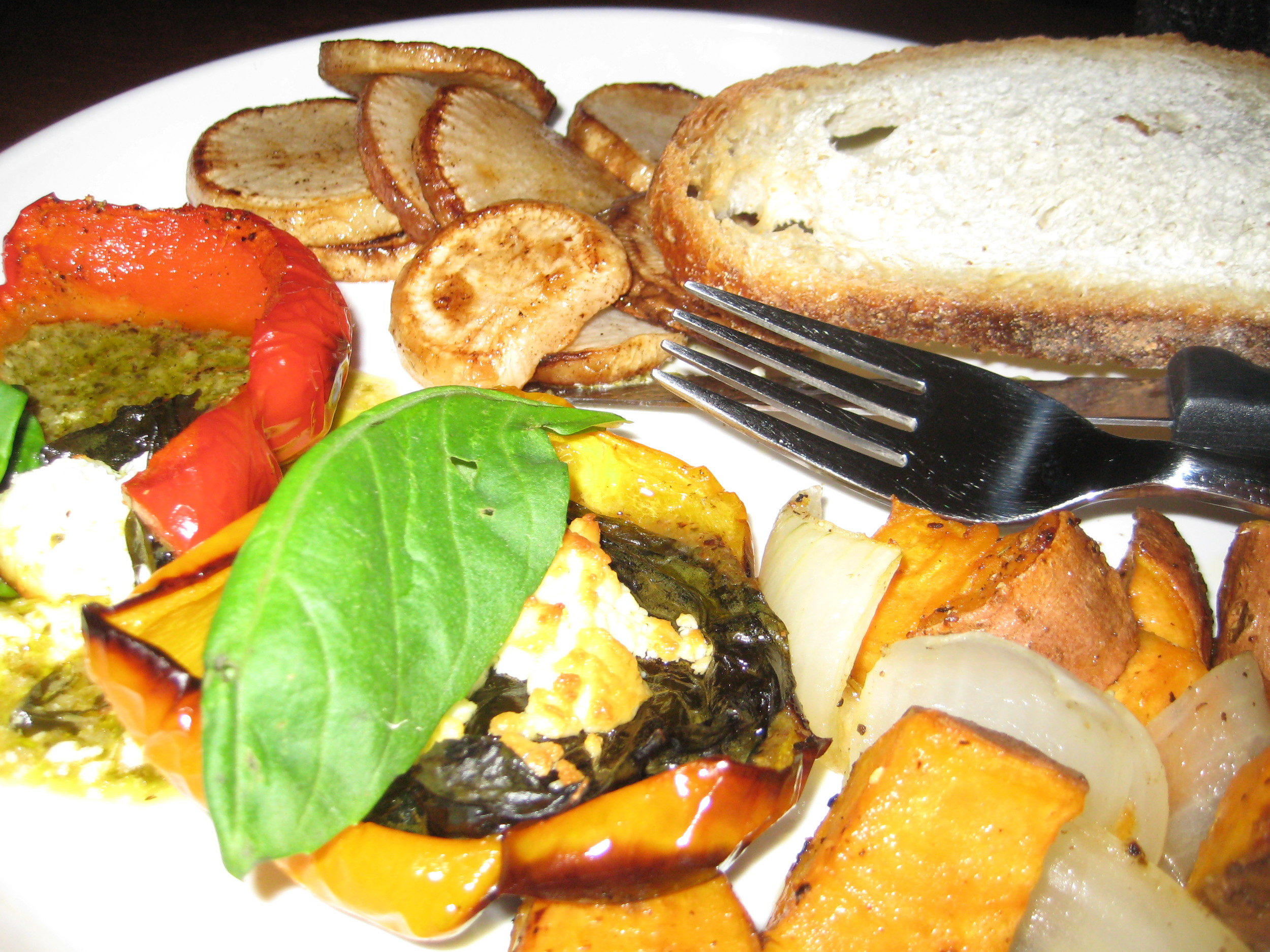 winter roasted vegetable dinner