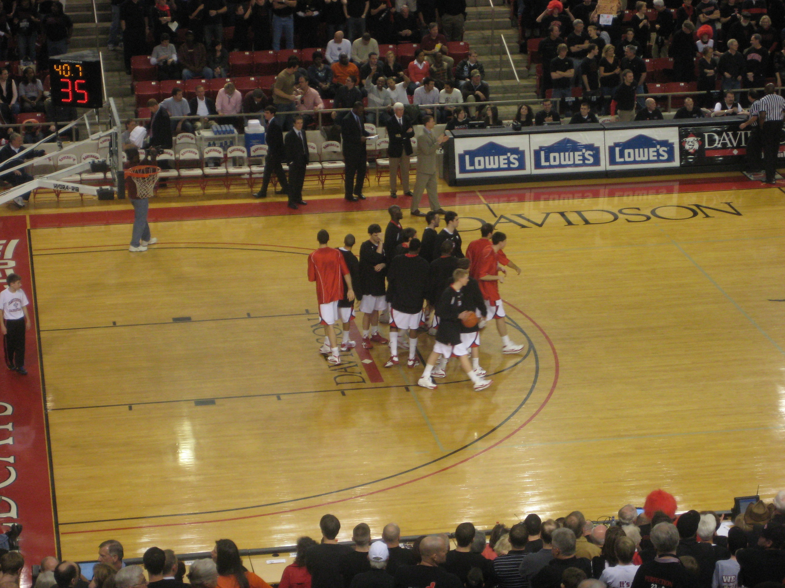 the davidson huddle