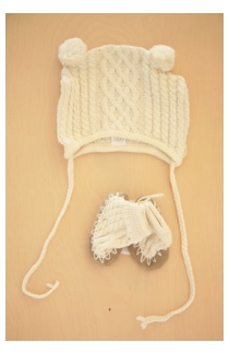 cable hat and booties
