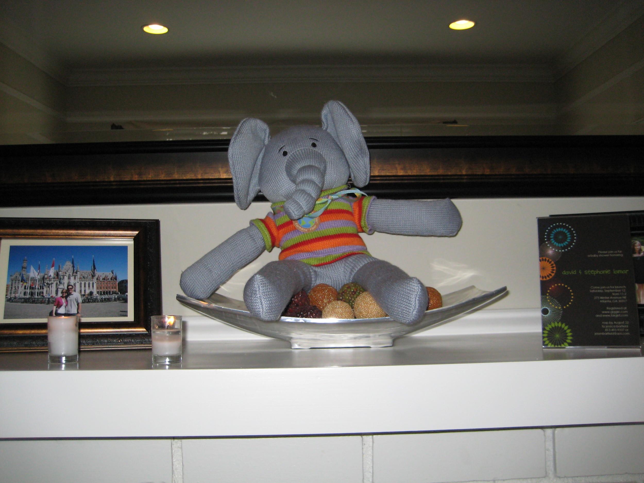 jack's new stuffed elephant