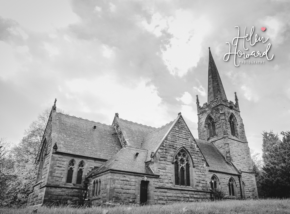 Black and White Image of St Leonard's Church in Dunston