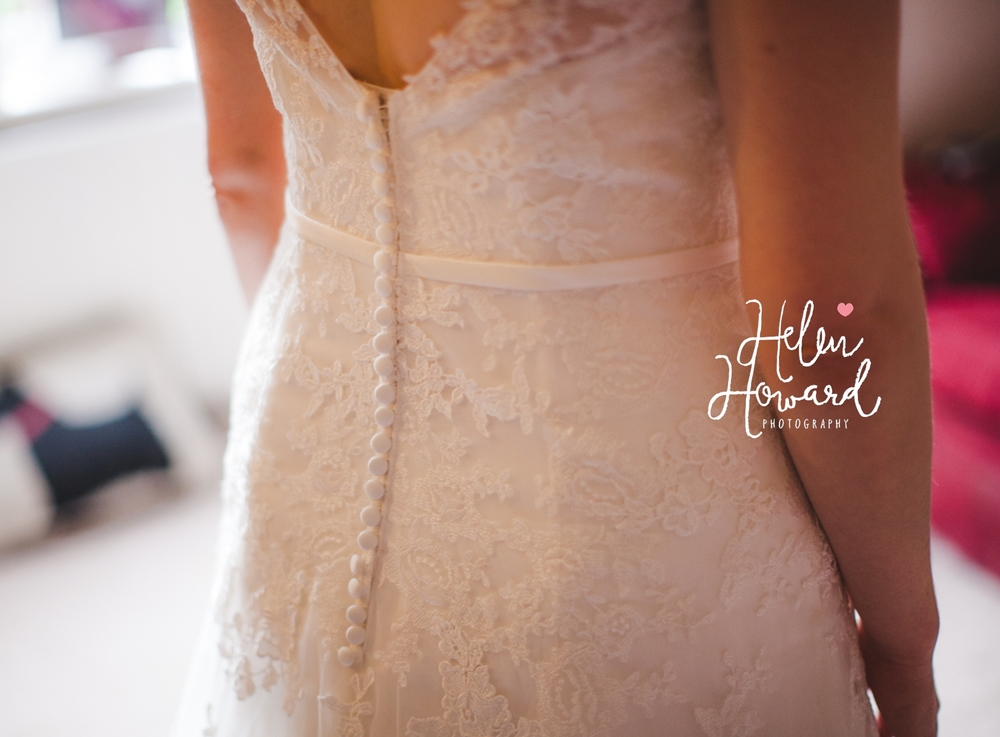 button back wedding dress in lace